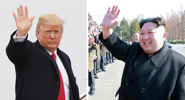 דולנד טראמפ ו קים ג'ונג און, צילום: איי אף פי