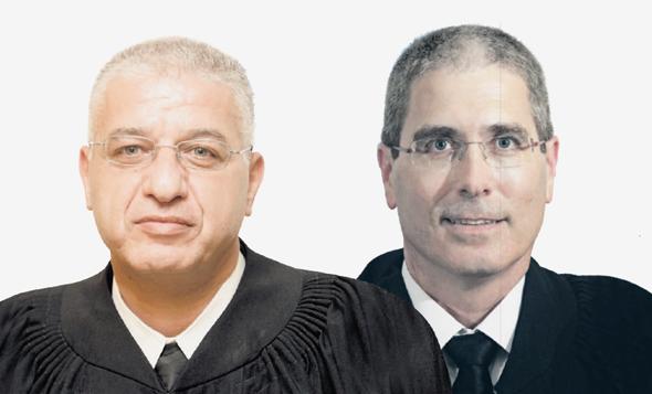 השופטים המעורבים בתיק הוניגמן חגי ברנר ועאטף עיילבוני
