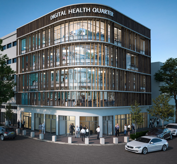 The Haifa digital health complex (simulation). Photo: PR