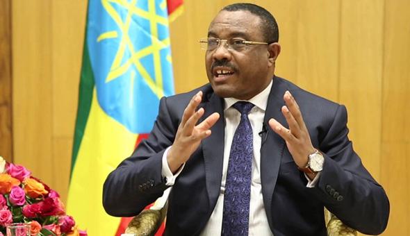 ראש ממשלת אתיופיה המתפטר, היילמריאם דסאלן, צילום: youtube