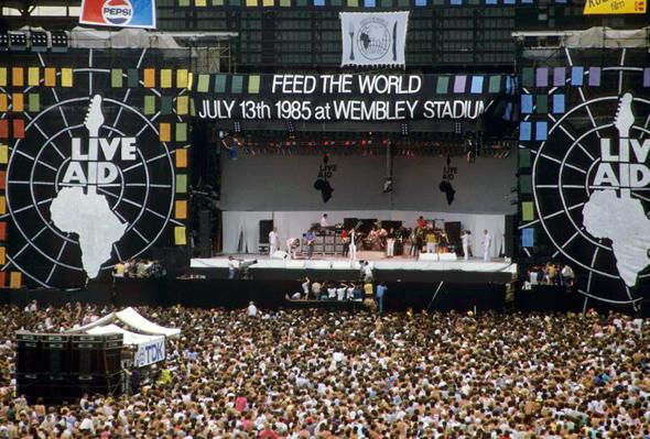 מופע הענק לייב אייד, וומבלי יולי 1985  , צילום: גטי אימג