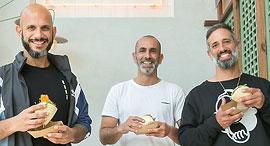 מסעדת באנז מימין אורן פנירי איתן חזן רועי סופר פנאי, צילום: אוראל כהן