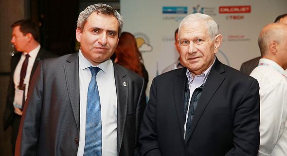 דוד ברודט ו זאב אלקין ועידת ניו יורק גלריה, צילום: אוראל כהן