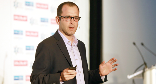 Yaniv Erlich at Calcalist's Mind the Tech conference in New York on Tuesday. Photo: Orel Cohen
