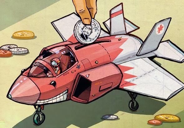 קריקטורת F35 שפורסמה בעיתון קנדי