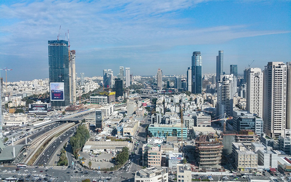 The Tel Aviv skyline. Photo: Pixabay-greissdesign