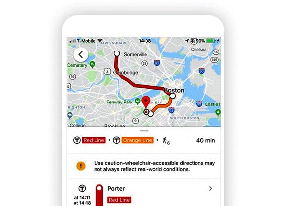 גוגל Maps מפות כסא גלגלים עגלה, צילום: google