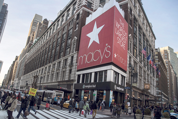 Macy's in New York. Photo: Bloomberg