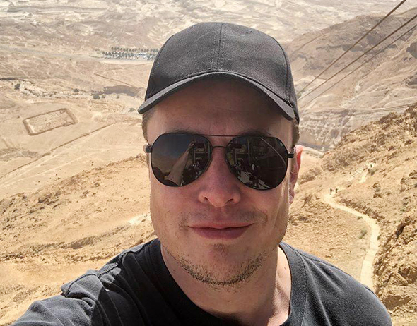 אילון מאסק ביקור מצדה ישראל