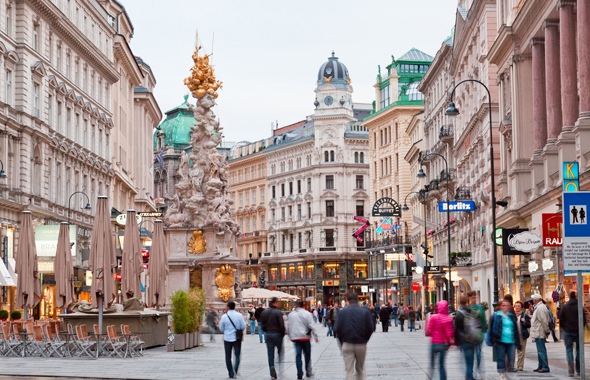 וינה, אוסטריה. ממוקמים במקום הרביעי