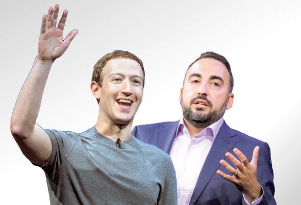 מימין מנהל האבטחה של פייסבוק אלכס סטאמוס ו מארק צוקרברג, צילום: בלומברג, רויטרס