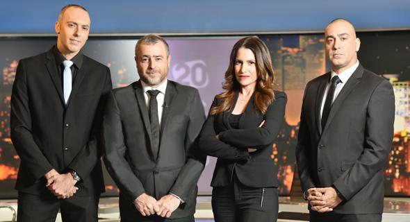 מימין נועם אמיר, דנה סומברג, שמעון ריקלין ואלירן טל