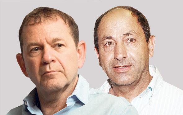 מימין רמי לוי ו אורי סירקיס מנכל ישראייר, צילומים: עמית שעל , אוראל כהן