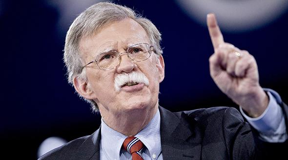 """היועץ לביטחון לאומי של ארה""""ב ג'ון בולטון"""