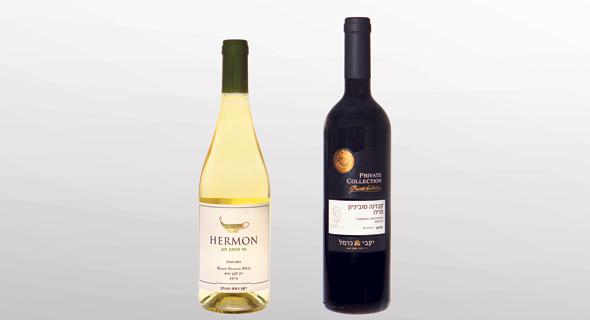 מימין: יינות של כרמל ורמת הגולן