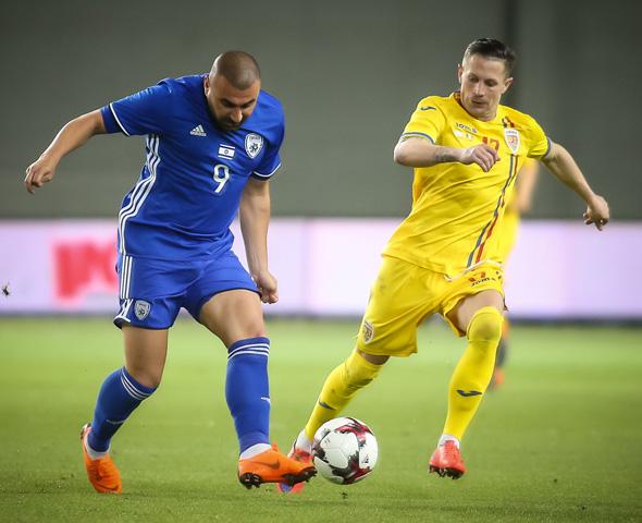 לוי אמש במשחק נגד נבחרת רומניה