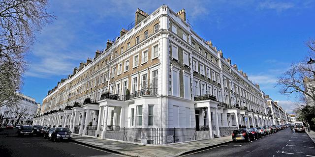 שכונת קנזינגטון, לונדון. לקראת גל מכירות, צילום: בלומברג