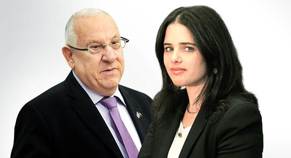 איילת שקד ו ראובן ריבלין, צילום: אלכס קולומויסקי, גיא אסיאג