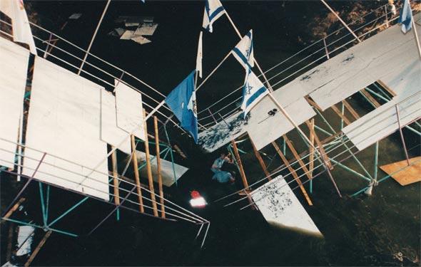 קריסת גשר המכבייה, 1999. המכונים מחויבים בבדיקת הקונסטרוקציה