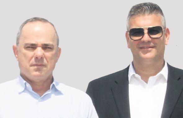 """מימין: יו""""ר אפקון ישראל רייף ושר האנרגיה יובל שטייניץ"""