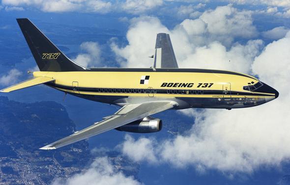 בואינג 737 מדור ראשון, באחת מטיסותיו הראשונות, צילום: Boeing