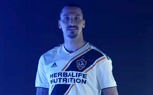 זלאטן איברהימוביץ', שחקן לוס אנג'לס גאלקסי MLS