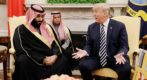 מימין דונלד טראמפ ויורש העצר הסעודי מוחמד בן סלמן, צילום: איי פי