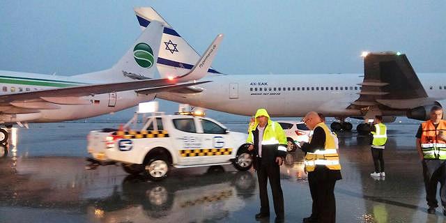 """התנגשות מטוסים על מסלול ההמראה בנתב""""ג, אין נפגעים"""
