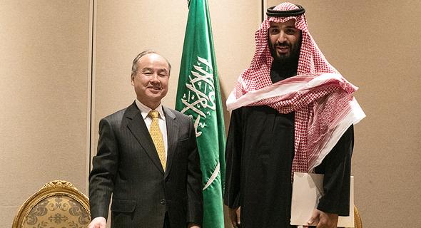 מוחמד בן סלמן מאסאיושי סון סופטבנק הסכם שדה סולרי, צילום: בלומברג