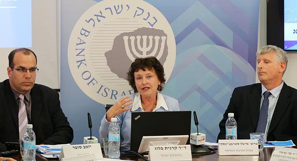 מסיבת עיתונאים בבנק ישראל נגידת בנק ישראל קרנית פלוג, צילום: עמית שאבי