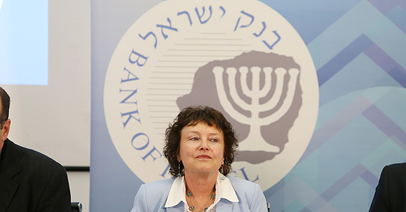 מסיבת עיתונאים ב בנק ישראל נגידת בנק ישראל קרנית פלוג, צילום: עמית שאבי
