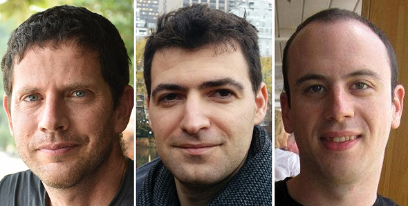 Atidot co-founders (from left): Assaf Mizan, Dror Katzav and Barak Bercovitz. Photo: PR