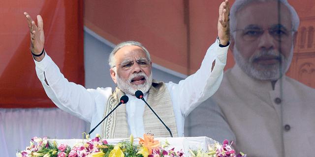 ראש ממשלת הודו נרנדרה מודי. מערים קשיים על קמעונאיות זרות, צילום: איי.אף.פי