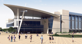 הדמיה של ביתן 4 במרכז הירידים. שאיפה להפוך לבינלאומי עד 2025