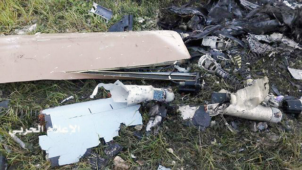 """שרידי המל""""ט שהתרסק בלבנון"""
