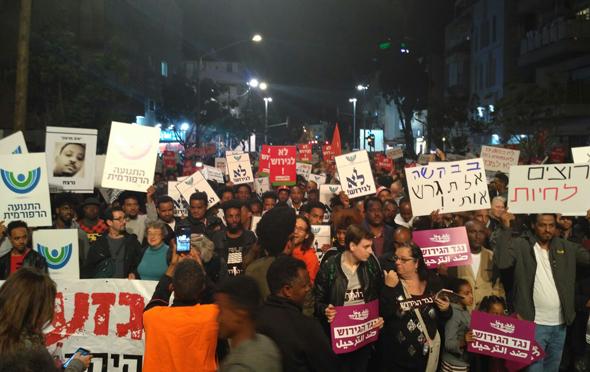 הפגנה נגד גירוש פליטים, כיכר רבין