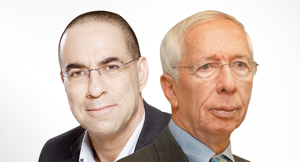 """מימין: יו""""ר אי.בי.אי צבי לובצקי ומנכ""""ל בית ההשקעות עדו קוק"""