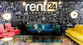 חלל עבודה של rent24, צילום: יחצ