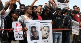 הפגנה נגד גירוש הפליטים, צילום: חיים הורנשטיין