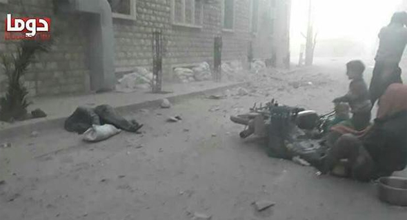 רחובות דומא לאחר ההפצצה סוריה ומתקפת הגז