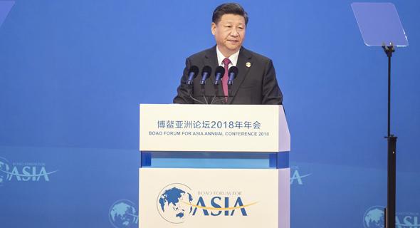נשיא סין שי ג'ינפינג. לא נשאר מאחור