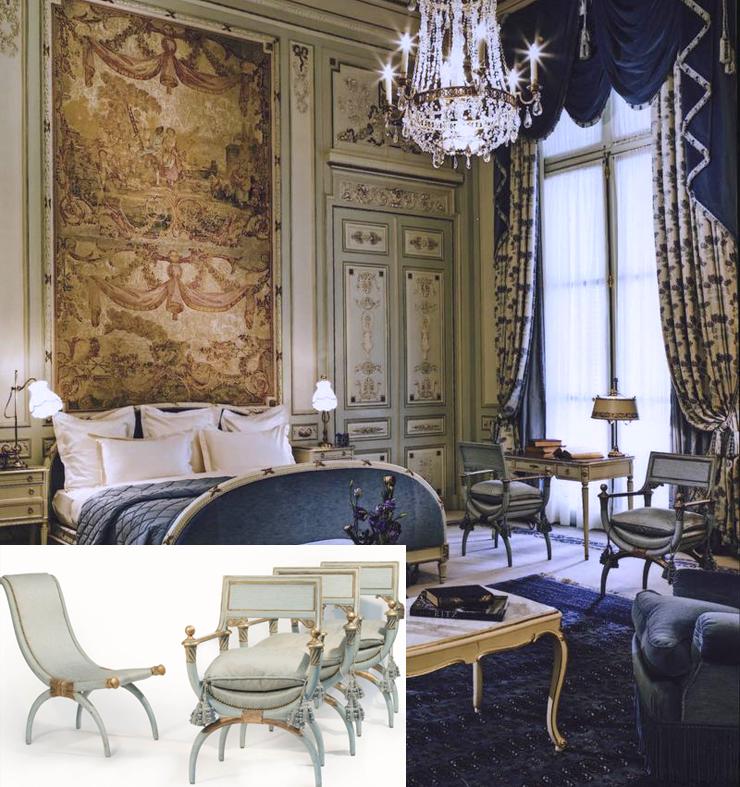 סט כיסאות עתיק מסוויטת ווינדזור, צילום: Ritz Paris / Artcurial