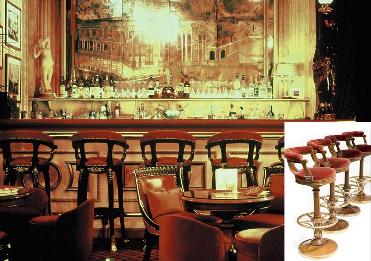 כסאות בר , צילום: Ritz Paris / Artcurial