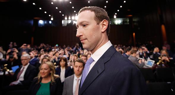 מארק צוקרברג בדרך להעיד בפני הסנאט, צילום: איי פי