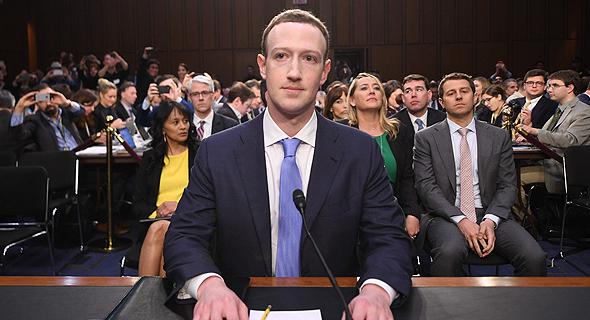 מארק צוקרברג מעיד בפני ה סנאט 1, צילום: איי אף פי