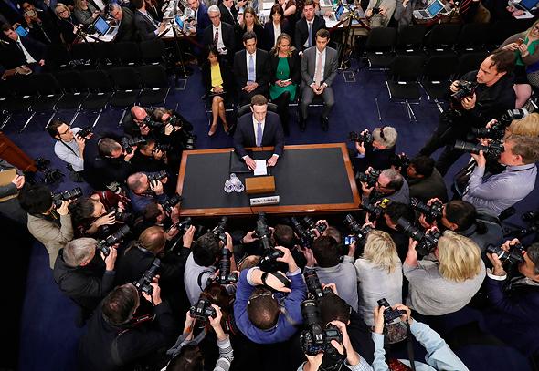 Facebook CEO Mark Zuckerberg testifies before the U.S. Senate. Photo: AP