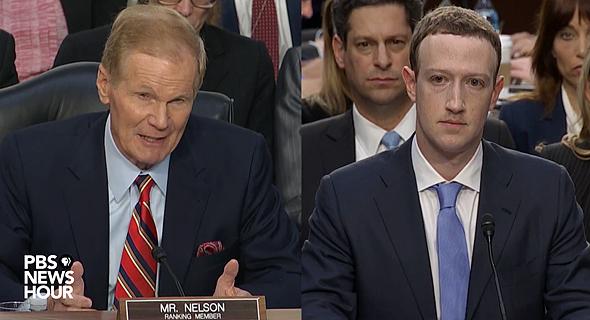 מארק צוקרברג מעיד בפני ה סנאט