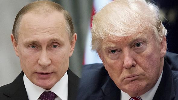 מימין דונלד טראמפ ו ולדימיר פוטין, צילום: גטי אימג'ס