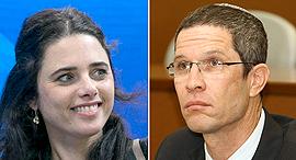 מימין דוד האן ו איילת שקד, צילומים: אוראל כהן, אוהד צויגנברג