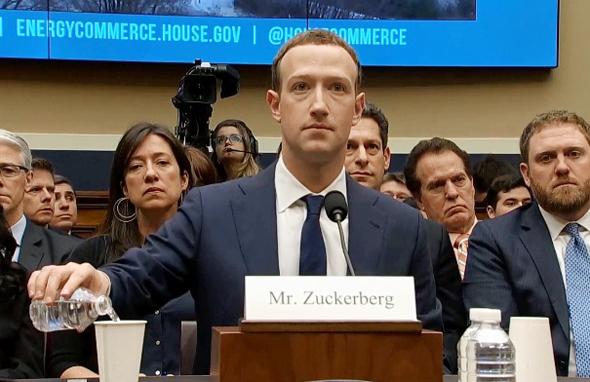 מייסד פייסבוק מארק צוקרברג מעיד בבית הנבחרים